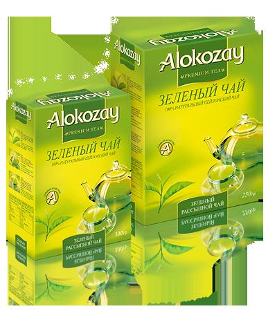 зеленый чай алокозай