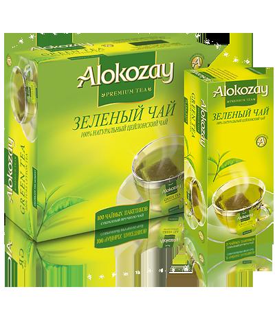 алокозай зеленый пакетированый чай