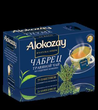 чай с чабрецем alokozay