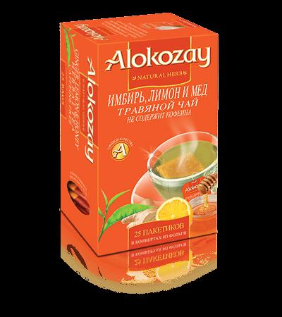 чай имбирь лимон мёд alokozay