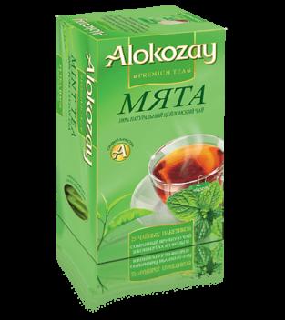 чай с мятой alokozay