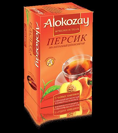 черный чай alokozay персик