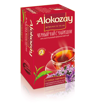 чай с чабрецом alokozay
