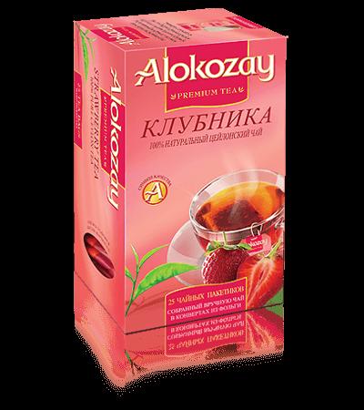 черный чай alokozay клубника