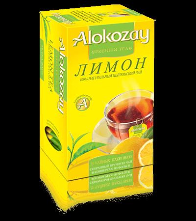 черный чай alokozay лимон