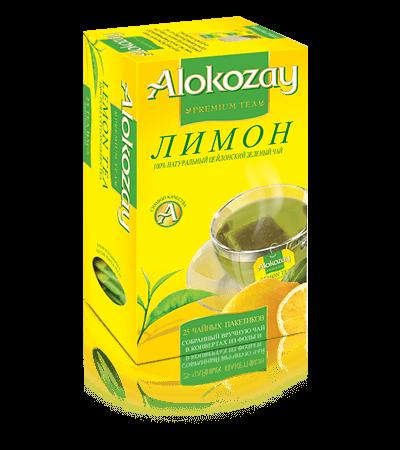 зеленый чай alokozay с лимоном