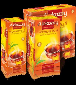 черный пакетированный чай alokozay