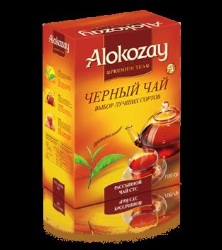 среднелистовой черный чай alokozay