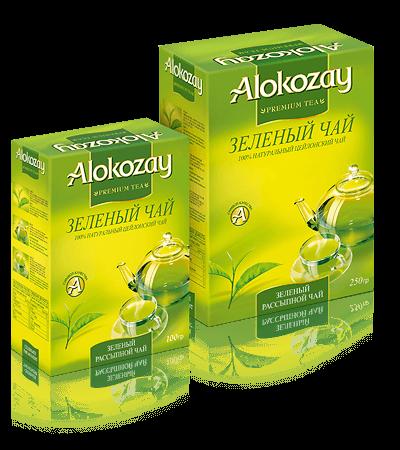 зеленый листовой чай alokozay
