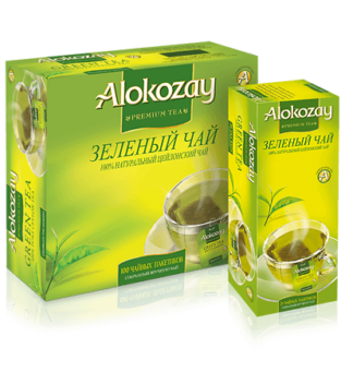 зеленый чай alokozay в пакетиках 100