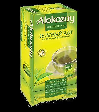 зеленый чай alokozay в конвертах