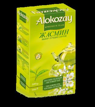 листовой чай с жасмином alokozay