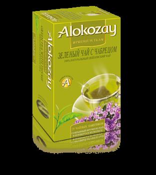 зеленый чай с чабрецем alokozay