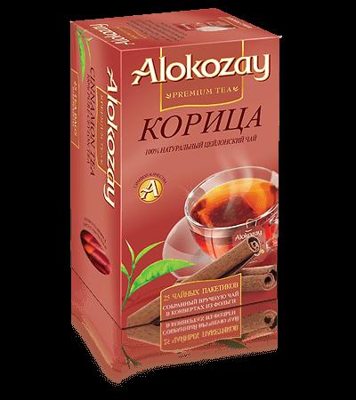 чай alokozay корица